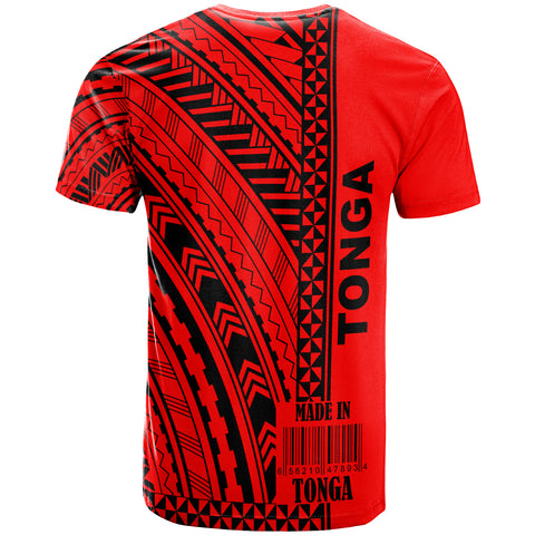 Tonga Custom Personalised T-Shirt - Barcode Black - BN20