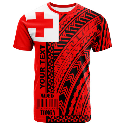 Image of Tonga Custom Personalised T-Shirt - Barcode Black - BN20