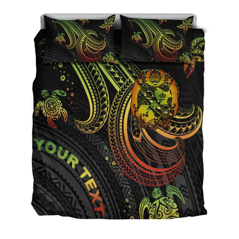 Image of Tonga Custom Personalised Bedding Set - Reggae Turtle