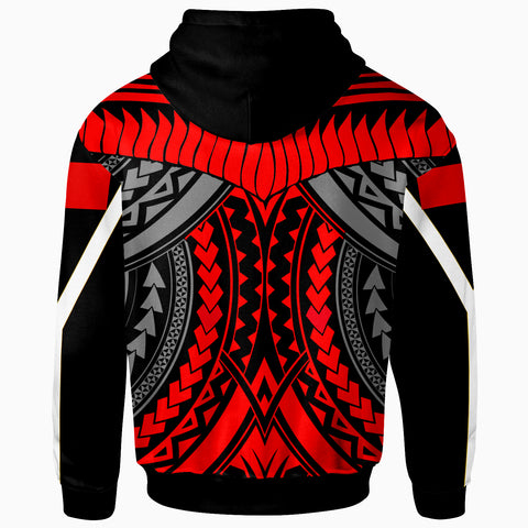 Image of Tonga Zip-Up Hoodie - Tooth Shaped Necklace Red - BN20