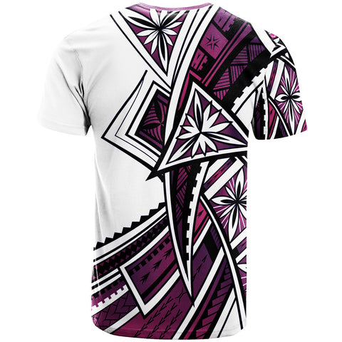 Guam  T-Shirt - Tribal Flower Special Pattern Purple Color  - BN20
