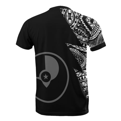 Image of Yap Pattern T-Shirt - Yap Flag Polynesian Tattoo Black Style - BN09