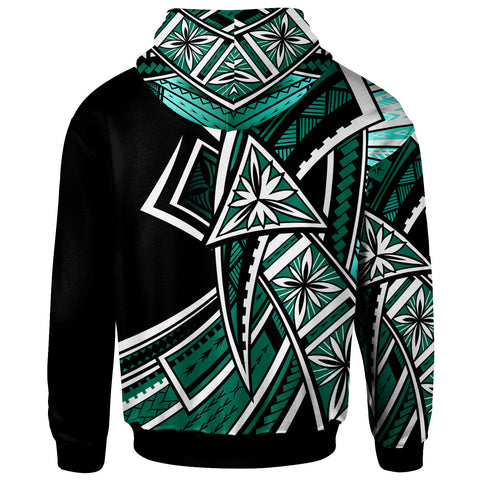 Samoa Hoodie - Tribal Flower Special Pattern Green Color - BN20