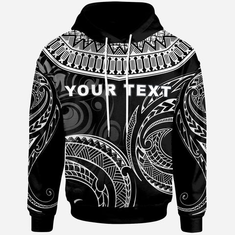 Fiji - Custom Personalised Hoodie - Serrated Pattern White Color - BN20