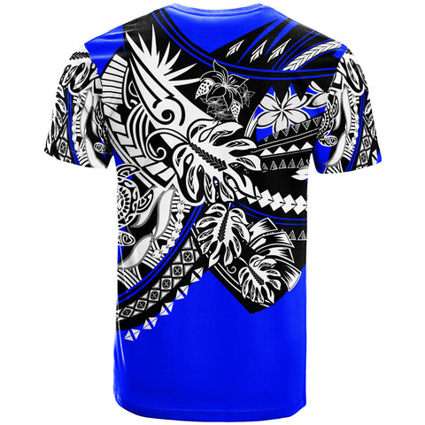 Hawaii T-Shirt - Tribal Jungle Blue Pattern - BN20