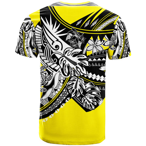 Image of Hawaii T-Shirt - Tribal Jungle Yellow Pattern - BN20