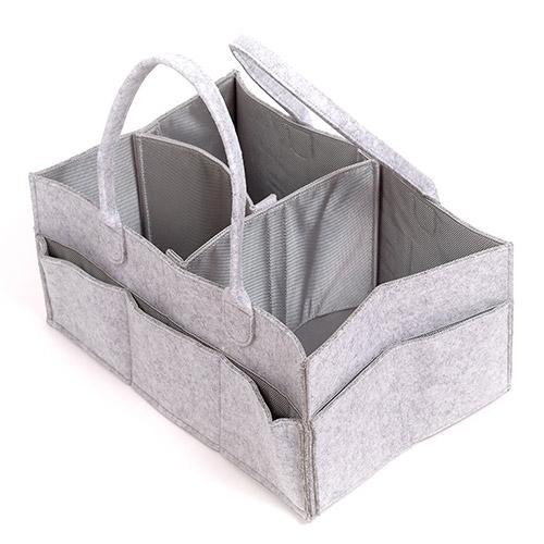 Felt Diaper Caddy Storage Organizer