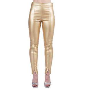Gold High Waist Skinnies
