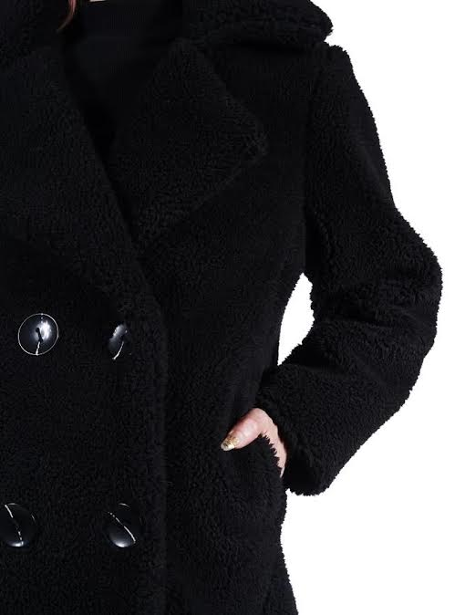 Black La Nuit Fleece Trench