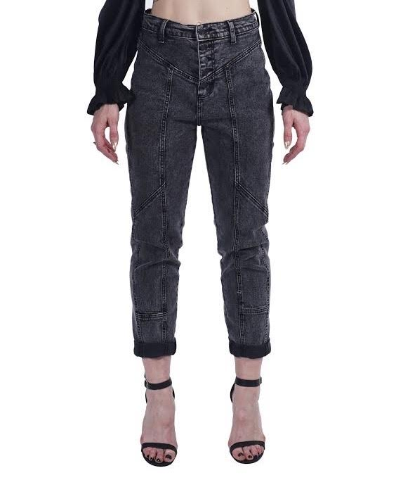 Black Acid Wash Jeans