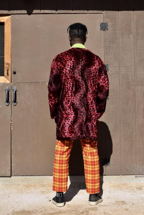 GG Green Apple Blouse / Ketchup and Mustard Plaid Trousers / Cabernet Leopard Cashmere Cardigan