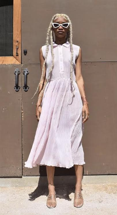 Pastel Pink Crepe GG Dress