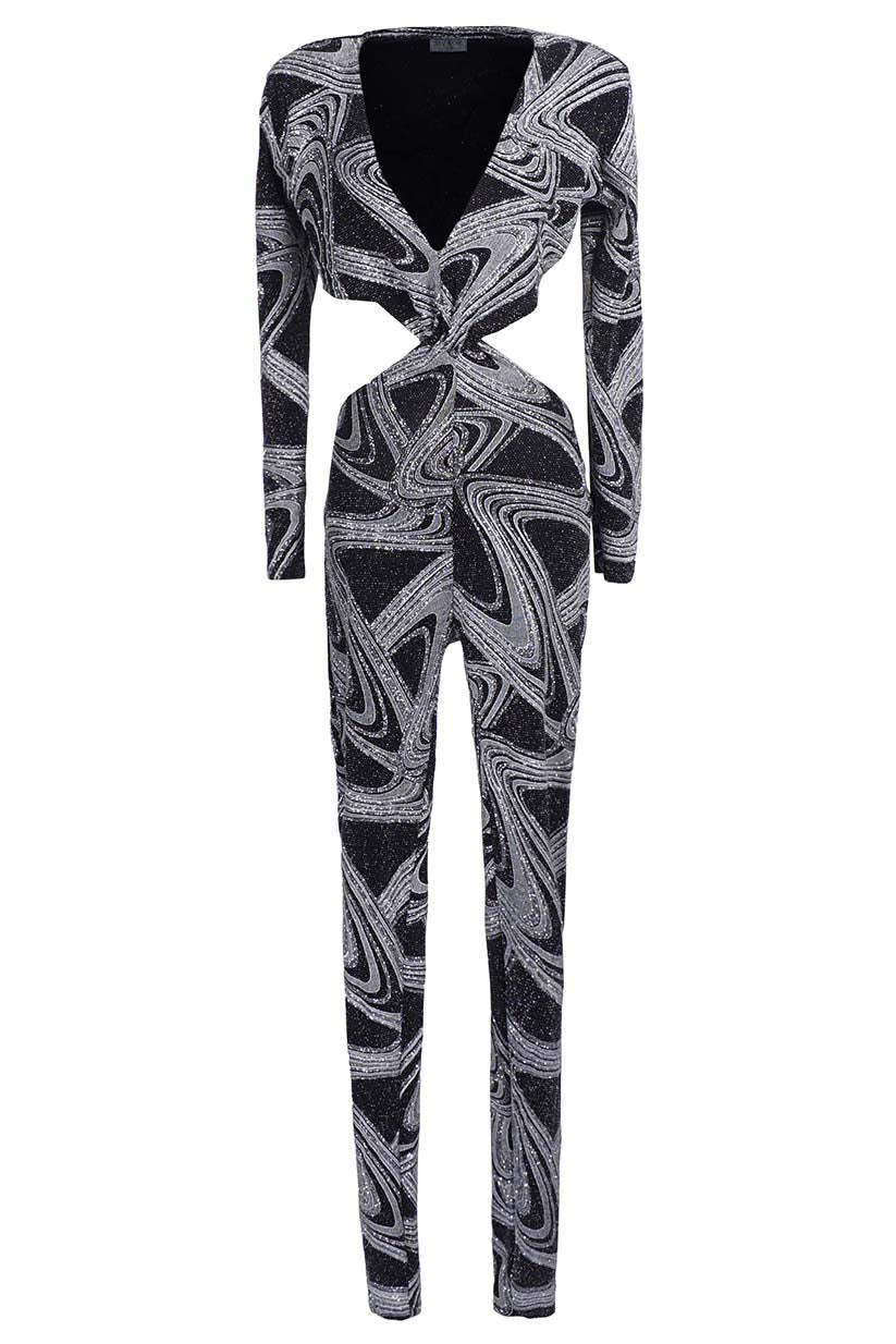 Metallic Atomic Body Jumpsuit