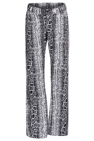 Black and White Snake Trousers
