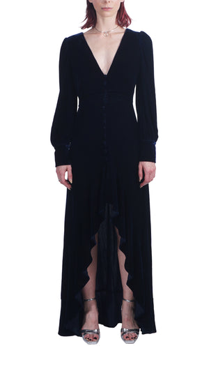 Blue Velvet Lake Gown