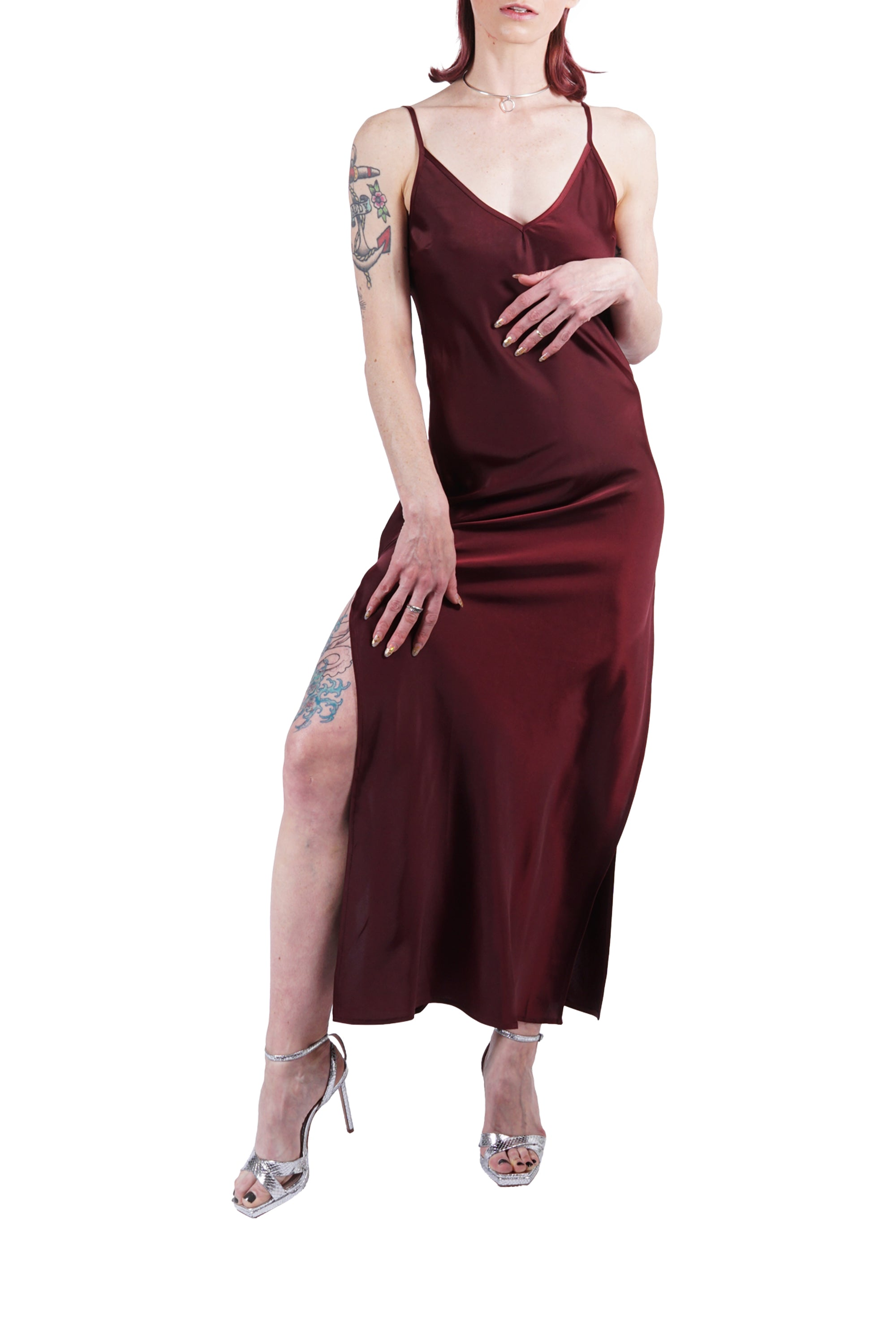 Cranberry Slit Dress