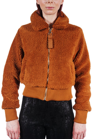 Caramel Fleece Bomber
