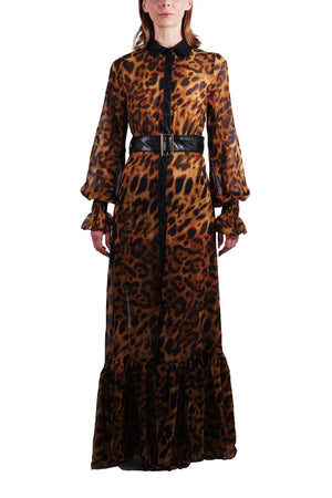 Leather & Leopard Maxi