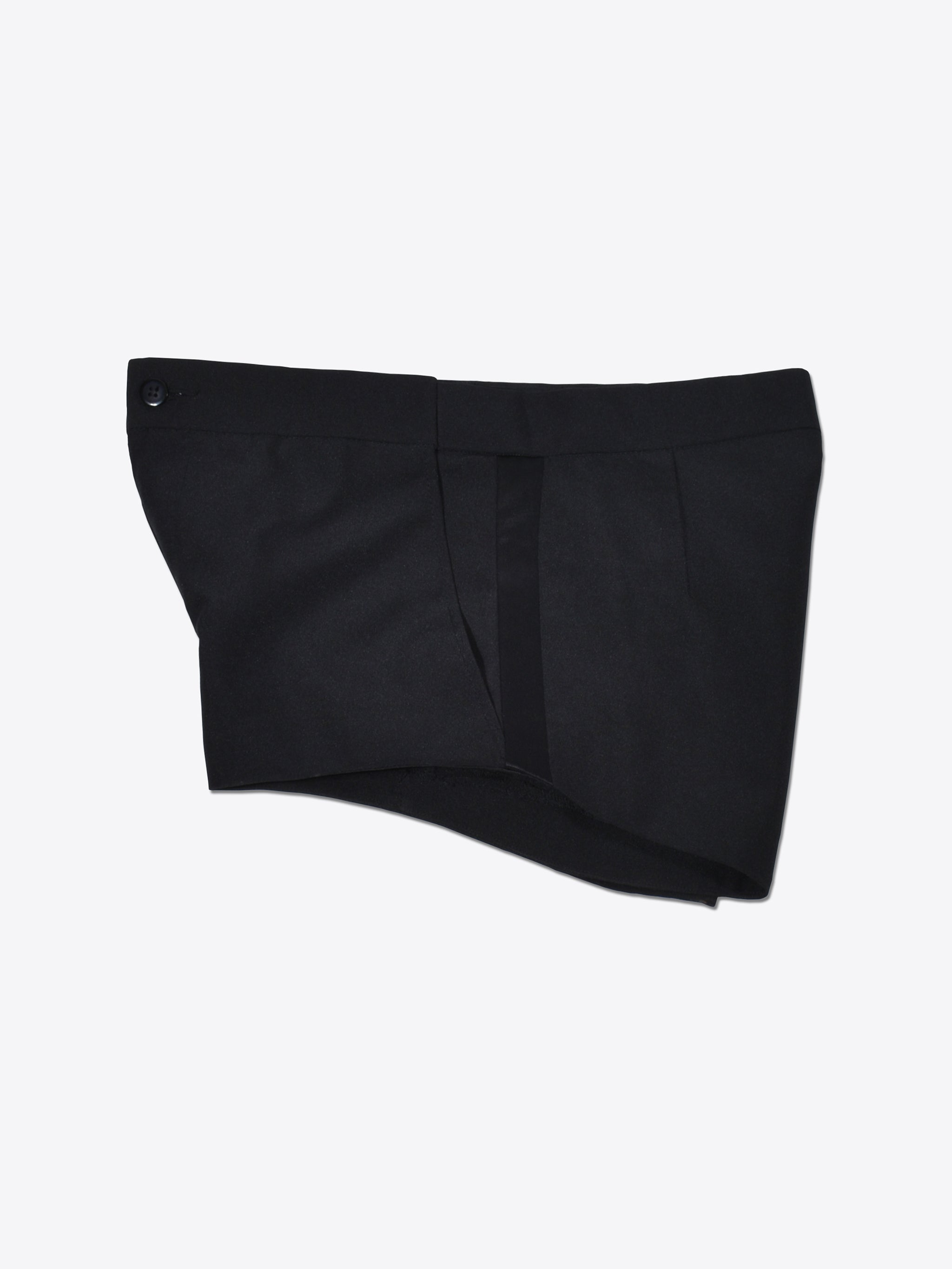 Black Tailored Tuxedo Shorts