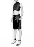SATIN PLEATED SHORT