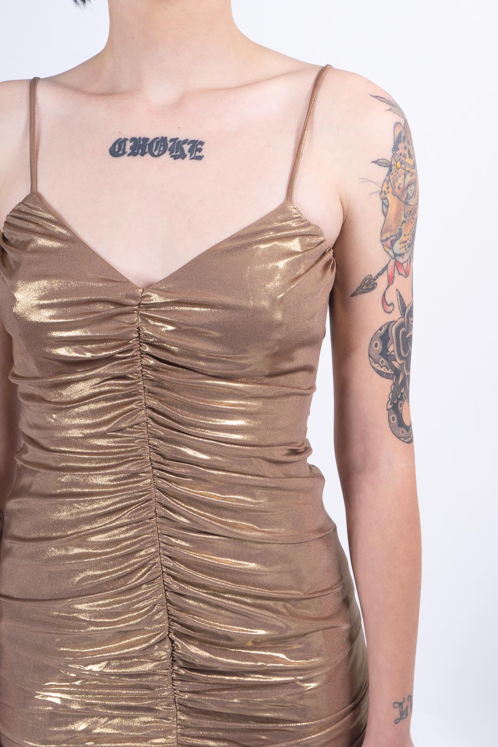 Golden Marker Dress