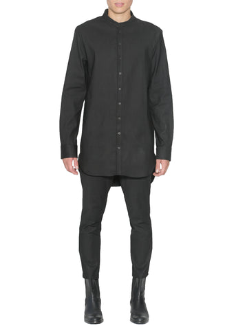 CHARCOAL LONG SLEEVE BUTTON UP