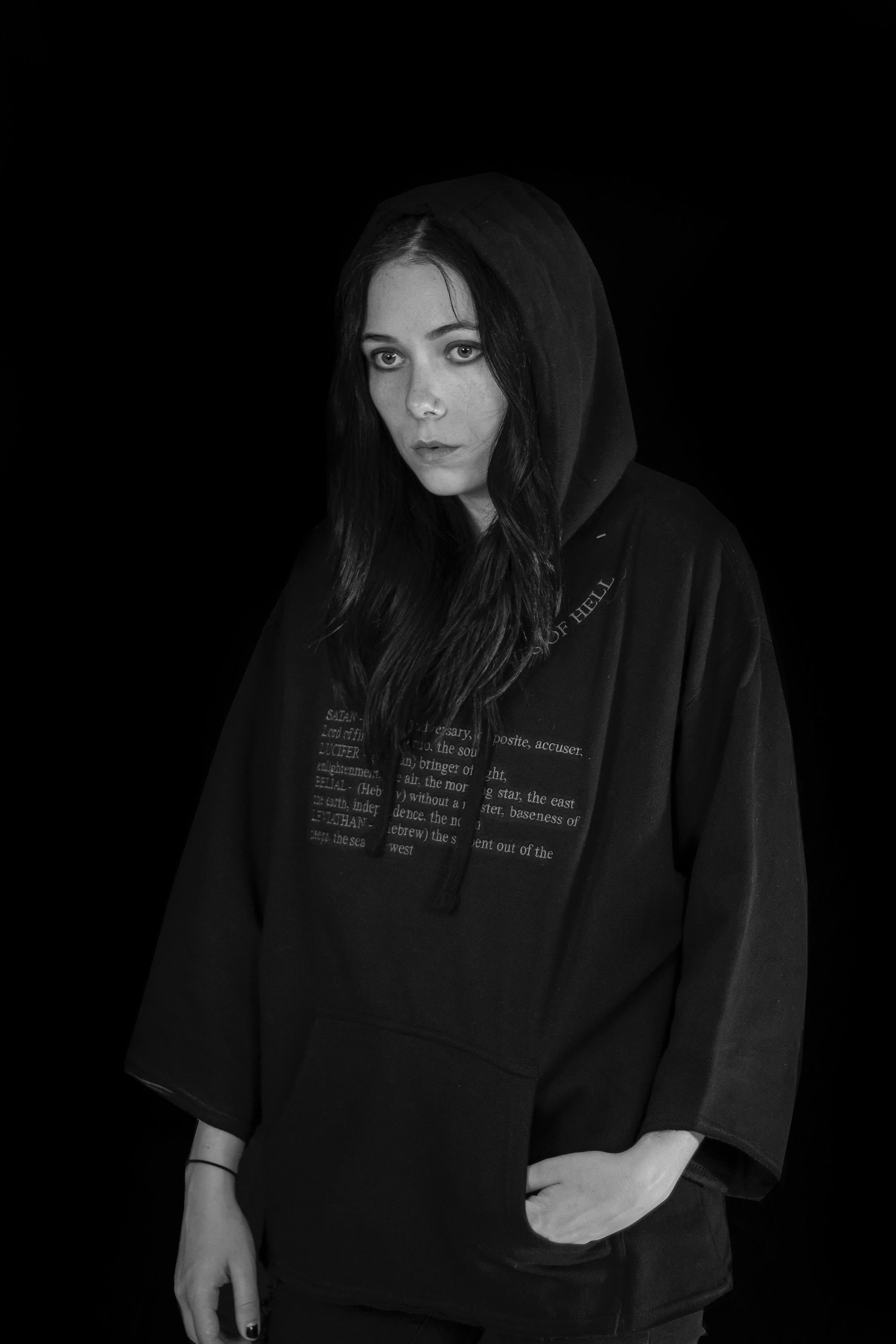 Crown Princes of Hell Cropped Hoodie
