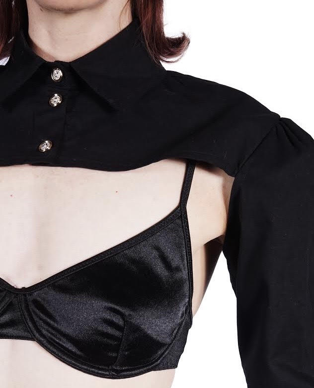 Black Cropped Shirt