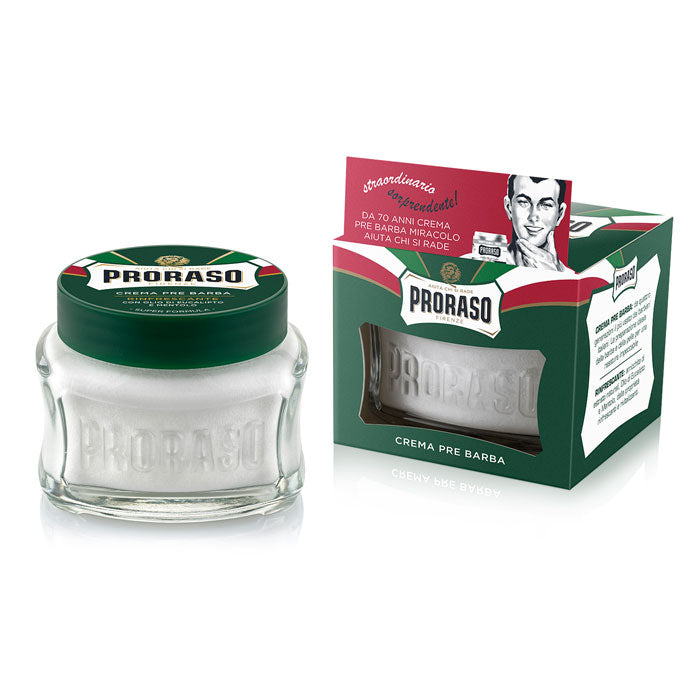 NEW Proraso Pre & Post Shaving Cream with Menthol and Eucalyptus 100ml - Green
