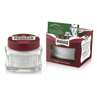 NEW Proraso Pre & Post Shaving Cream for Coarse Beards 100ml - Red