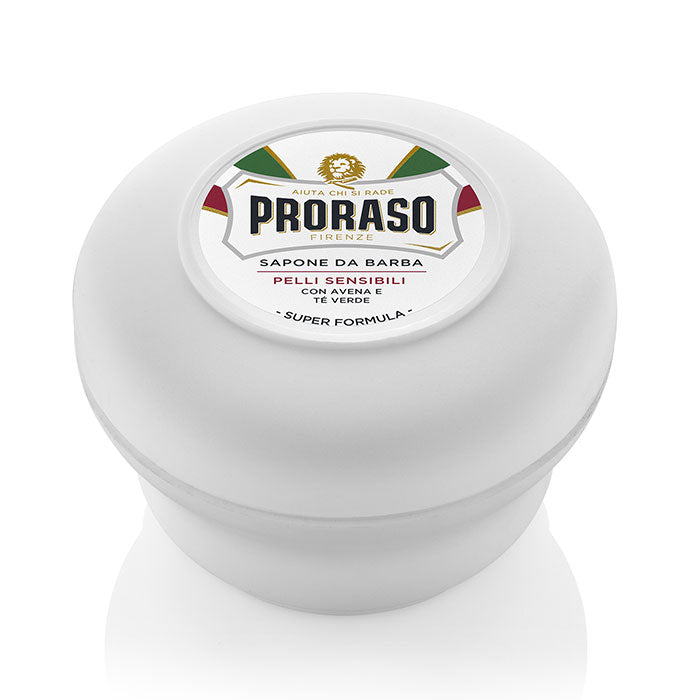 NEW Proraso White Soap Bowl - 'Sensitive' with Green Tea & Oat Extract 150ml
