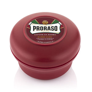 NEW Proraso Red Soap Bowl - 'Nourishing' with Sandalwood and Shea Butter 150ml