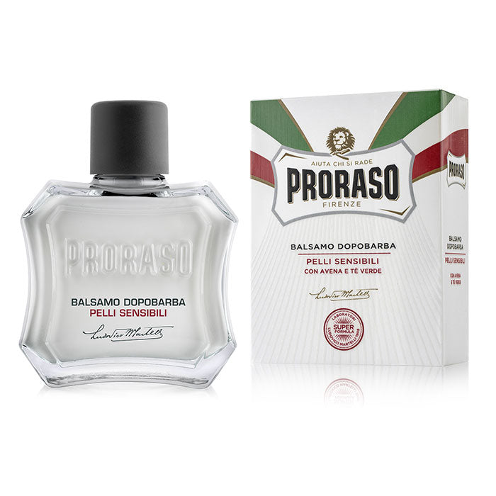 NEW Proraso Aftershave Balm for Sensitive Skin - 100ml Bottle White