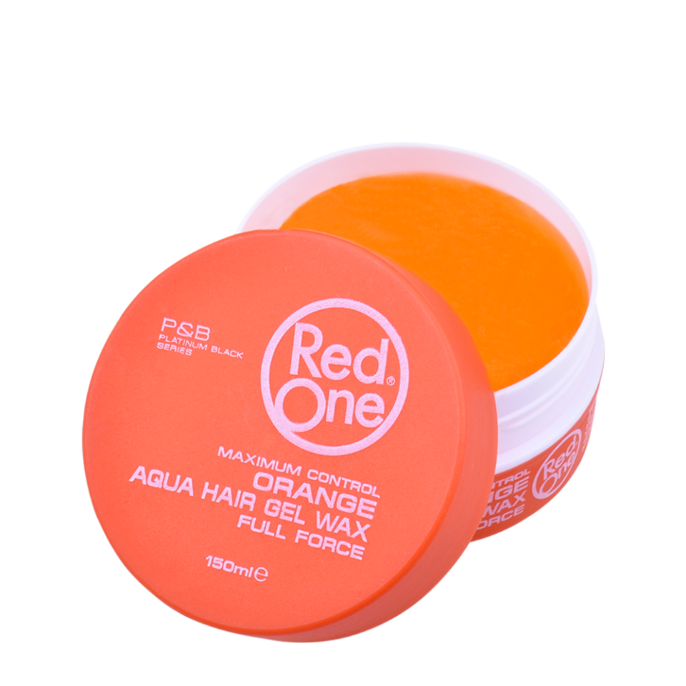 NEW Red One Hair Gel Wax - Orange 150ml Tub
