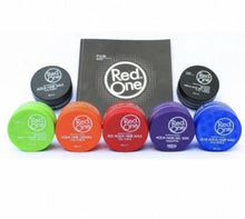 Load image into Gallery viewer, NEW Red One Hair Gel Wax - Black 150ml Tub