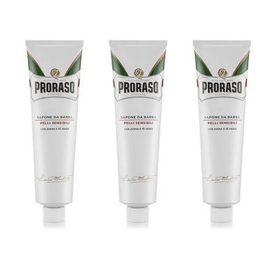 DAMAGED 3 Proraso Shaving Cream for Sensitive Skin with Green Tea and Oat Extract  - White Tube 150ml