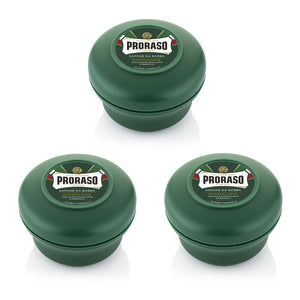 NEW Triple Pack Proraso Soap Bowls - Green