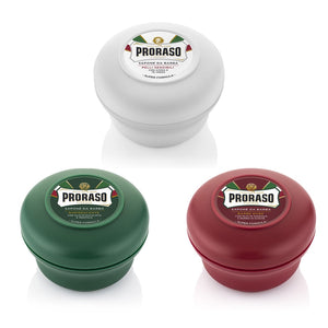 NEW Triple Pack Proraso Soap Bowls - Mixed