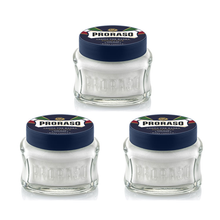 Load image into Gallery viewer, NEW Triple Pack Proraso Pre & Post Shaving Creams - 100ml Blue