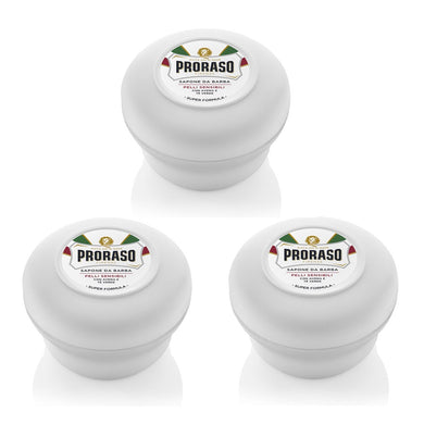 NEW Triple Pack Proraso Soap Bowls - White