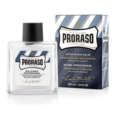 CLEARANCE Proraso Aftershave Balm with Aloe and Vitamin E - 100ml Bottle Blue