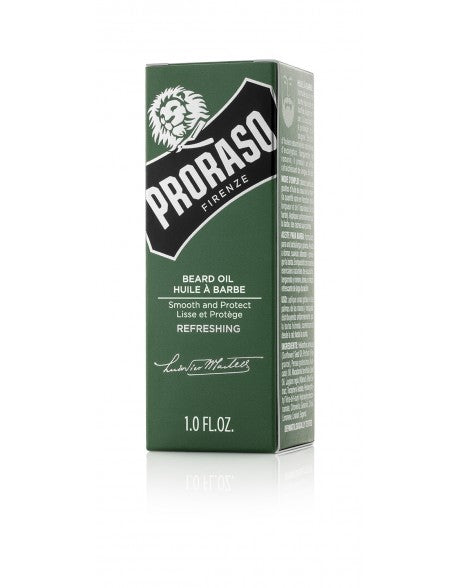 Proraso Beard Oil Refreshing 30ml - Green