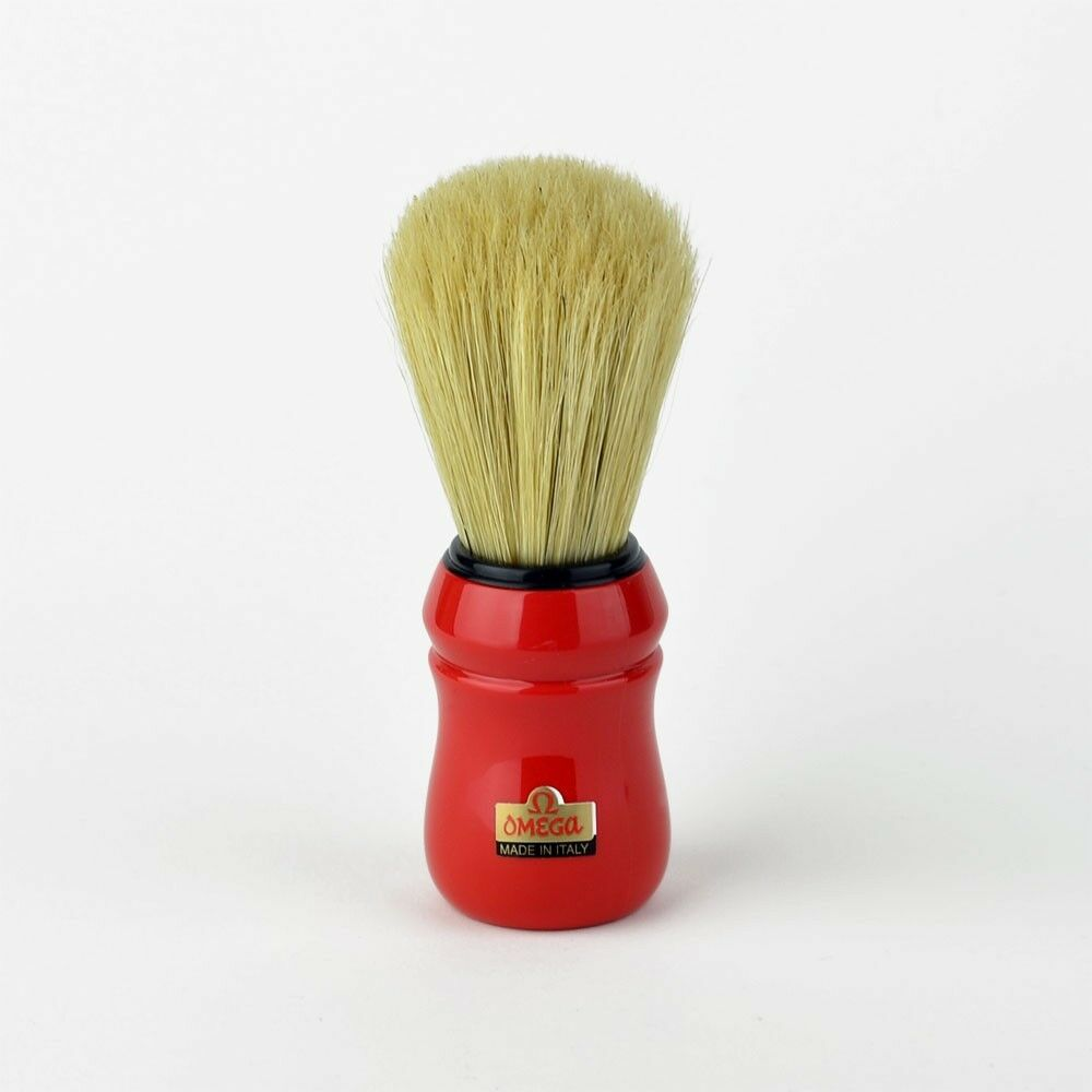 Omega 49 Professional Quality Shaving Brush - Red