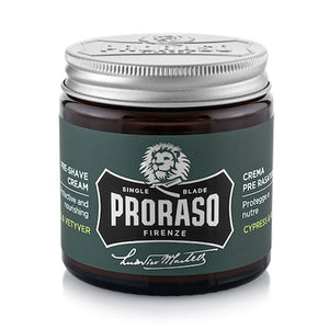 NEW Proraso Pre Shave Cream Cypress and Vetyver Single Blade 100ml