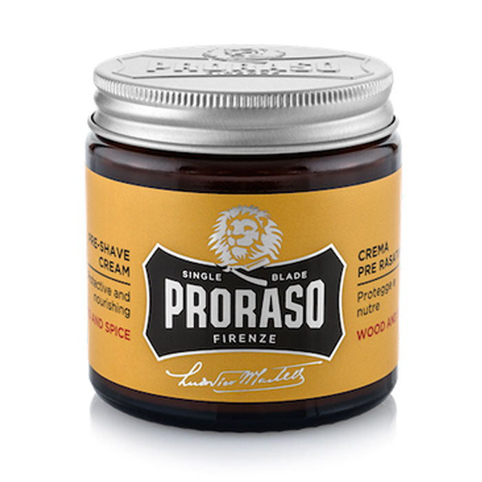 NEW Proraso Pre Shave Cream Wood and Spice Single Blade 100ml