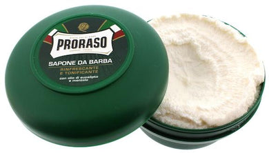 Proraso Green Soap Bowl - 'Refreshing' with Menthol and Eucalyptus - 75ml
