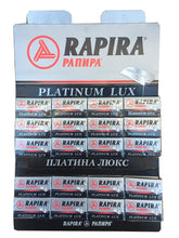 Load image into Gallery viewer, Rapira Platinum Lux Double Edge Razor Blades