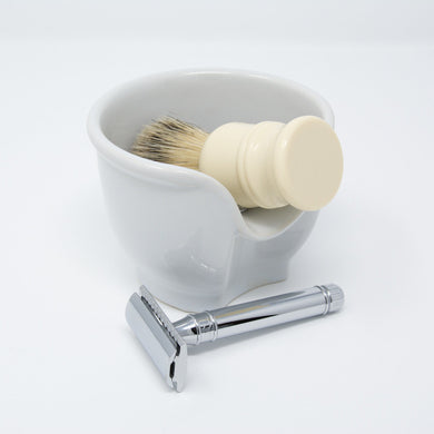 SECONDS La Barbiera Ceramic Shaving Bowl
