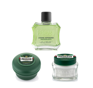 3 Piece Shaving Set - Green