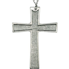 "4 1/2""  Pewter Pectoral Cross on 28"" chain"